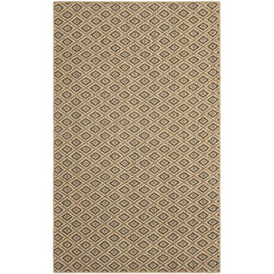 Taj Natural/Black Area Rug Rug Size: Rectangle 8 x 10