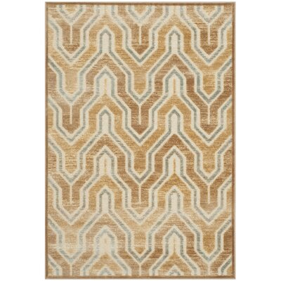 Gabbro Taupe/Beige Area Rug Rug Size: Rectangle 53 x 75