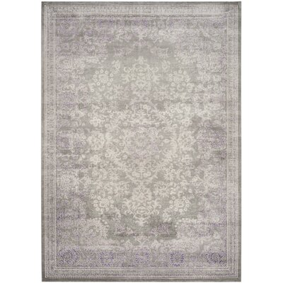 Becontree Gray/Lavender Area Rug Rug Size: Rectangle 10 x 14