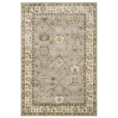 Colliers Hand-Tufted Wool Silver Area Rug Rug Size: 4 x 6