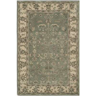 Colliers Hand-Tufted Wool Slate Area Rug Rug Size: Rectangle 4 x 6
