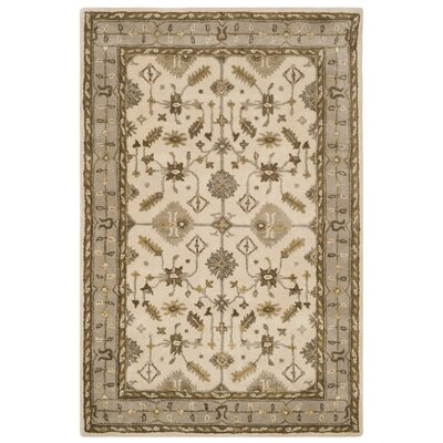 Colliers Hand-Tufted Wool Cream Area Rug Rug Size: Runner 2'3