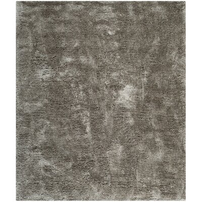 Maya Silver Shag Area Rug Rug Size: Rectangle 10 x 14