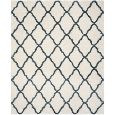 Melvin Beige/Blue Area Rug Rug Size: Rectangle 9 x 12