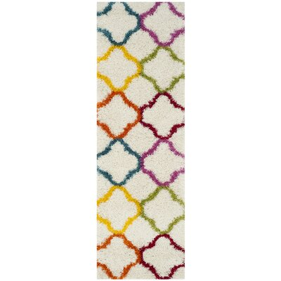 Kids Ivory/Yellow Area Rug Rug Size: Runner 23 x 9