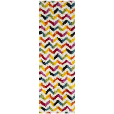 Madge Chevron Ivory Area Rug