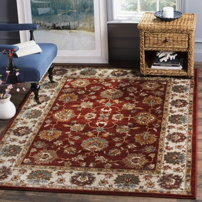 Summit Red Area Rug Rug Size: Round 4