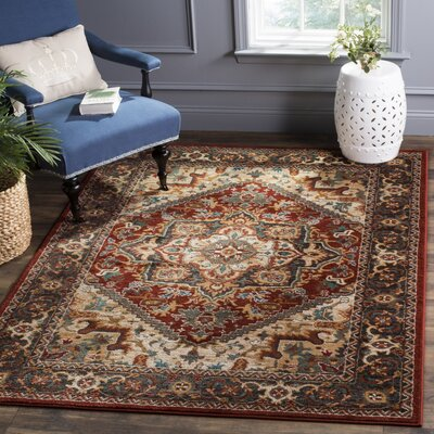 Summit Red Area Rug Rug Size: Square 4