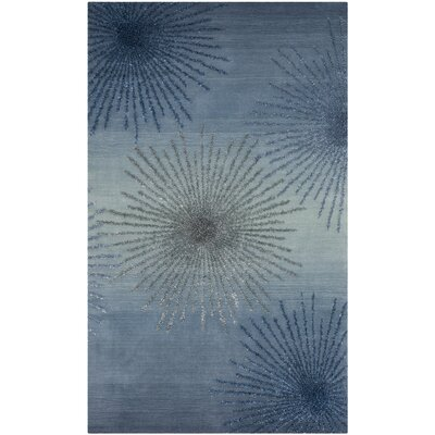 Germain Hand-Tufted Blue Area Rug Rug Size: 5' x 8'