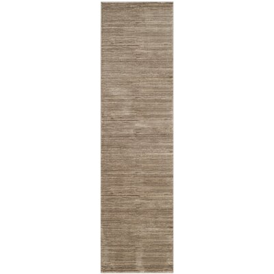 Harloe Light Brown Area Rug Rug Size: Runner 22 x 12