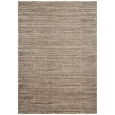Harloe Light Brown Area Rug Rug Size: 6 x 9