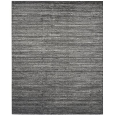 Harloe Solid Gray Area Rug Rug Size: Rectangle 10 x 14
