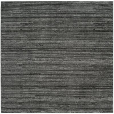 Harloe Solid Gray Area Rug Rug Size: Square 5