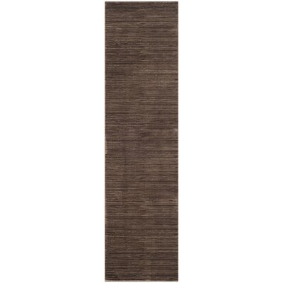 Harloe Brown Area Rug Rug Size: Runner 22 x 10