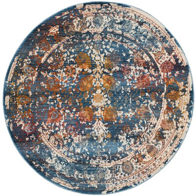 Rosecrans Turquoise Area Rug Rug Size: Round 5