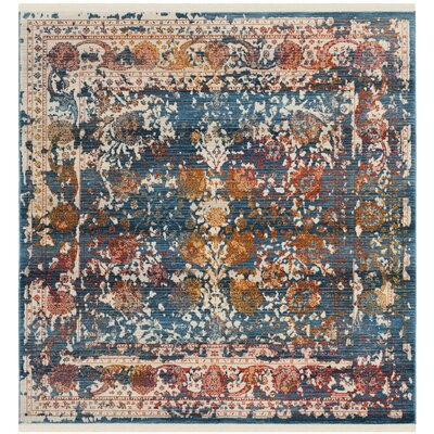 Rosecrans Turquoise Area Rug Rug Size: Square 5