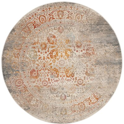 Rosecrans Gray Area Rug Rug Size: Round 5