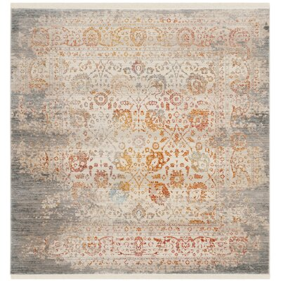 Rosecrans Gray Area Rug Rug Size: Square 5