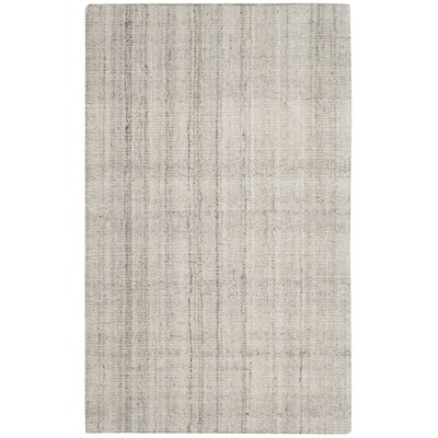 Brendan Hand-Tufted Light Gray Area Rug Rug Size: Rectangle 6 x 9