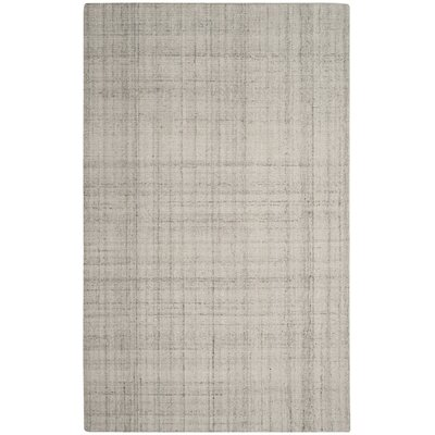 Brendan Hand-Tufted Light Gray Area Rug Rug Size: 6 x 9