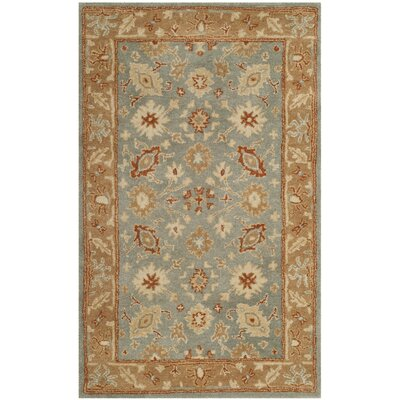 Dunbar Hand-Tufted Wool Blue Area Rug Rug Size: Rectangle 4 x 6