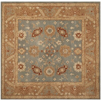 Dunbar Hand-Tufted Wool Blue Area Rug Rug Size: Square 6