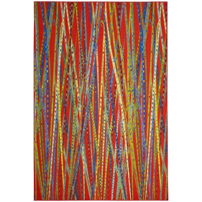 Zavala Orange Area Rug Rug Size: 5 x 8