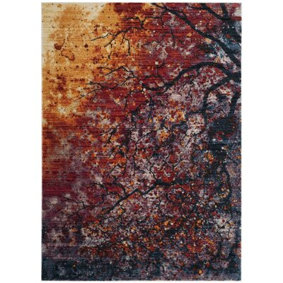 Lansing Red/Orange Area Rug Rug Size: 5 x 7