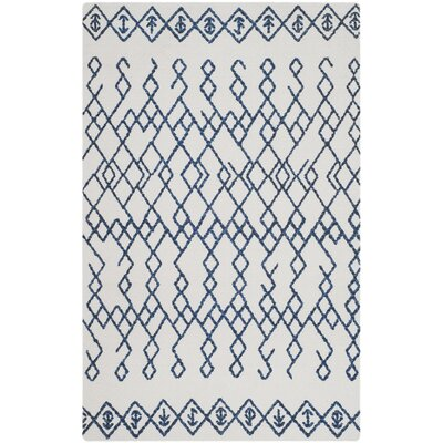 Owen Hand-Loomed Cotton Ivory Area Rug Rug Size: 3 x 5