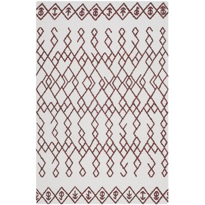 Owen Hand-Loomed Cotton Ivory Area Rug Rug Size: Rectangle 4 x 6
