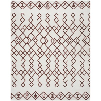 Owen Hand-Loomed Cotton Ivory Area Rug Rug Size: 5 x 8