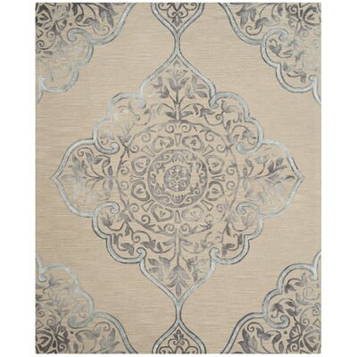 Brennan Hand-Tufted Wool Beige Area Rug Rug Size: Rectangle 8 x 10