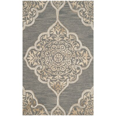 Brennan Hand-Tufted Wool Slate Area Rug Rug Size: Rectangle 2 x 3