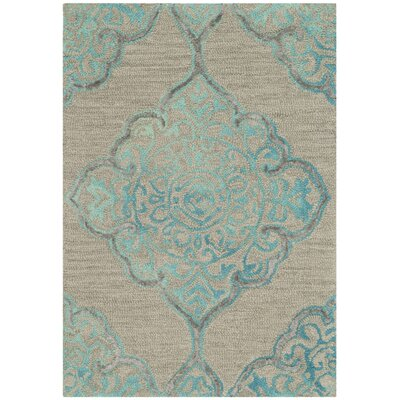 Brennan Hand-Tufted Wool Beige Area Rug Rug Size: Rectangle 2 x 3