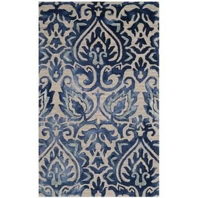 Brennan Hand-Tufted Wool Royal Blue Area Rug Rug Size: 3 x 5