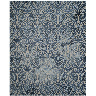 Brennan Hand-Tufted Wool Royal Blue Area Rug Rug Size: 5 x 8