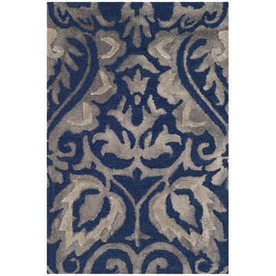 Brennan Hand-Tufted Wool Navy Area Rug Rug Size: 3 x 5