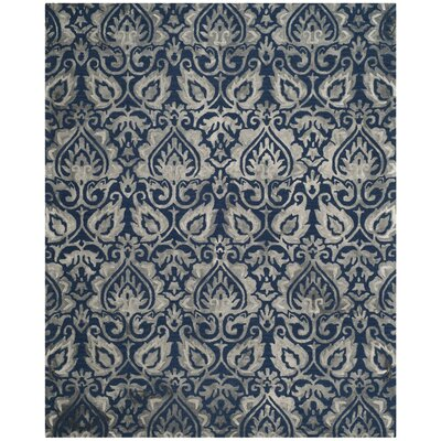 Brennan Hand-Tufted Wool Navy Area Rug Rug Size: Square 7