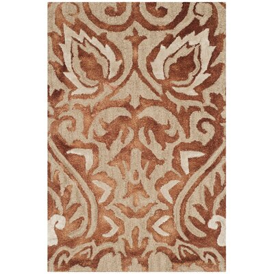 Brennan Hand-Tufted Wool Copper Area Rug Rug Size: 3 x 5