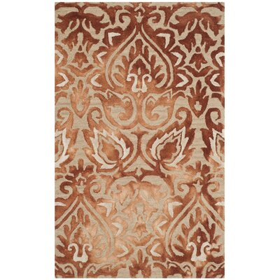 Brennan Hand-Tufted Wool Copper Area Rug Rug Size: 5 x 8