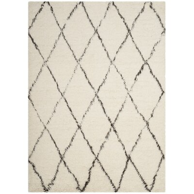 Erica Hand-Tufted Wool Ivory Area Rug Rug Size: Rectangle 8 x 10