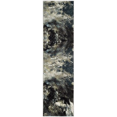 Leighton Blue Area Rug Rug Size: Runner 23 x 8