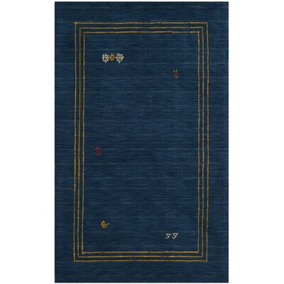 Hossain Hand-Loomed Wool Blue Area Rug Rug Size: Rectangle 5 x 8