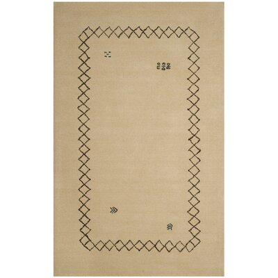 Coraima Hand-Loomed Wool Beige Area Rug Rug Size: Rectangle 4 x 6