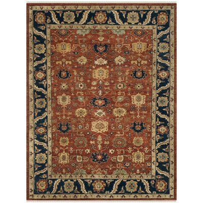 Larkson Hand-Knotted Rust Area Rug Rug Size: Rectangle 8 x 10