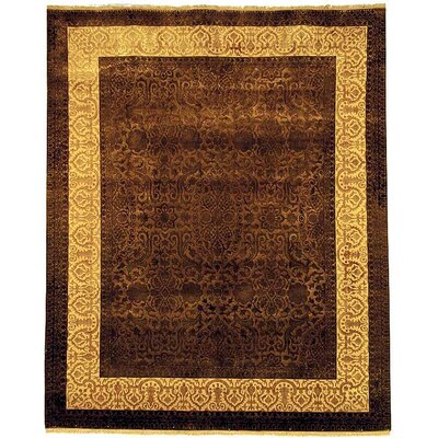 Antonie Hand-Knotted Chocolate Area Rug