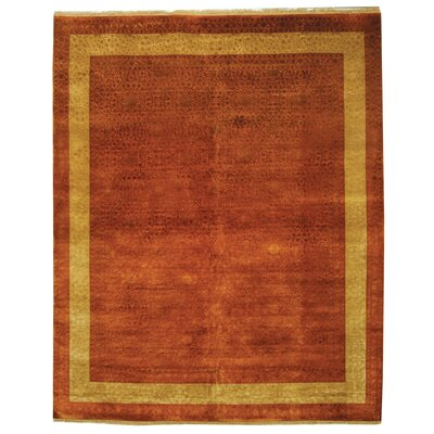 Antonie Hand-Knotted Rust Area Rug
