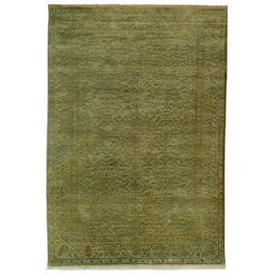 Hebert Hand-Knotted Light Green Area Rug