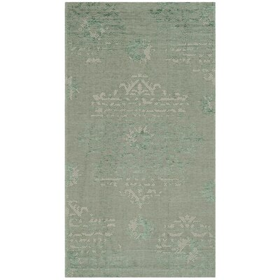 Port Laguerre Light Green Area Rug