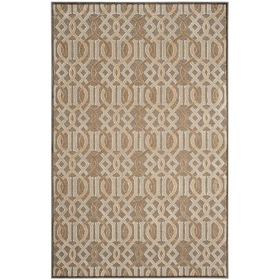 Van Wyck Brown Area Rug Rug Size: Rectangle 53 x 76